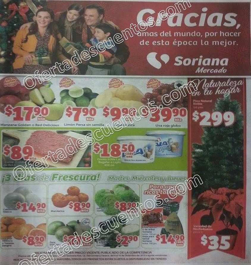 Soriana Mercado: Martes y Miércoles de Frutas y Verduras 8 y 9 de Diciembre