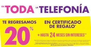 suburbia 20% de descuento  en certificado regalo en Telefonía