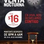 venta nocturna vivaaerobus del 18 al 20 de diciembre OFFDE OFFDE