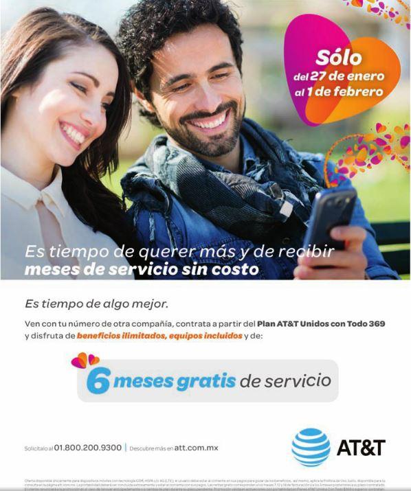 AT&T: 6 Meses de Servicio Gratis al Cambiarte de Compañía