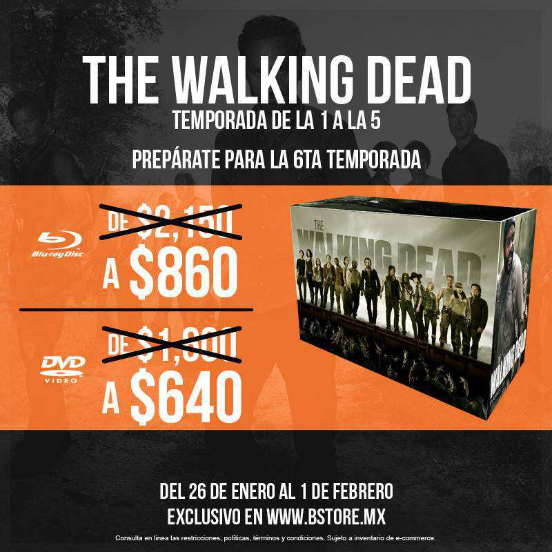 The B-Store: The Walking Dead Temporadas 1-5 a $640