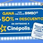 Cinepolis 50 de descuento entradas con Bimbo OFFDE