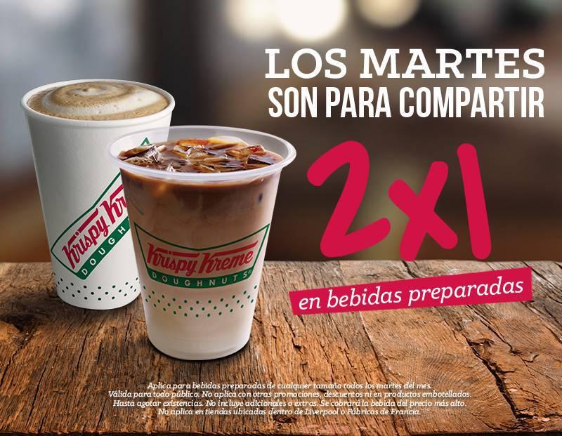 Krispy Kreme: Bebidas Preparadas al 2×1