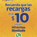Telcel 10 whatsapp ilimitado