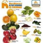 frutas y verduras chedraui 5 y 6 enero
