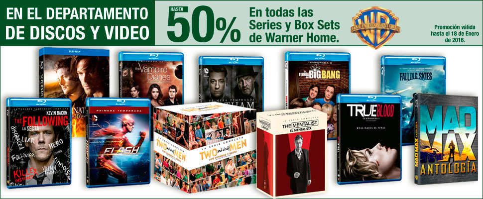 Sears: Hasta 50% de Descuento en Discos y Video Warner