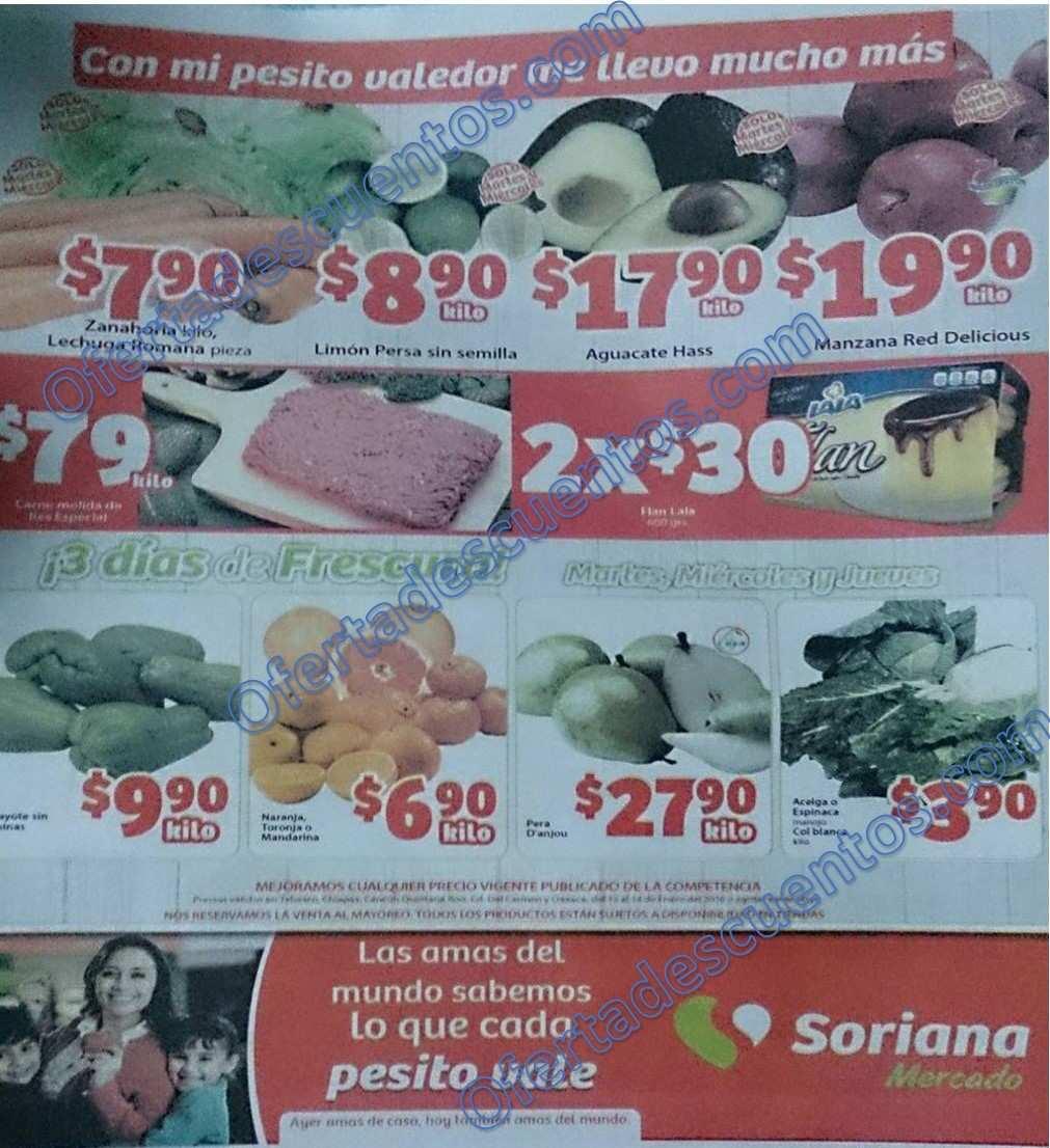 Soriana Mercado: Martes y Miércoles de Frutas y Verduras 12 y 13 de Enero