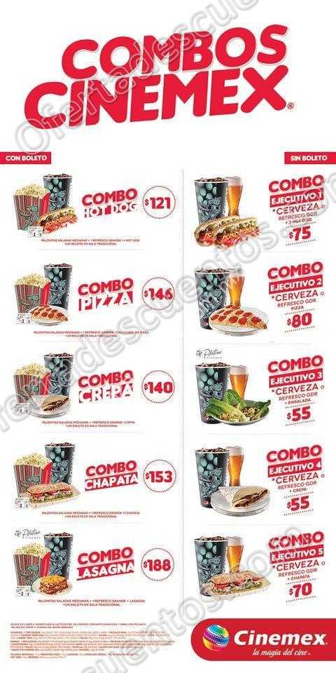 Cinemex: Combos Cinemex 2016 | Oferta Descuentos