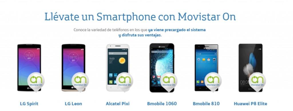 Equipos disponibles en Movistar ON