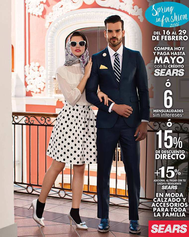 Sears: Spring in Fashion 15% de Descuento en Moda