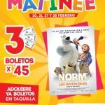 cinemex 3 entradas por 45 pesos para pelicula norm y los invencibles OFFDE