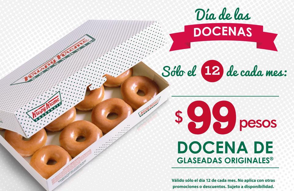 Krispy Kreme: Docena de Original Glaseada a $99 12 de Junio