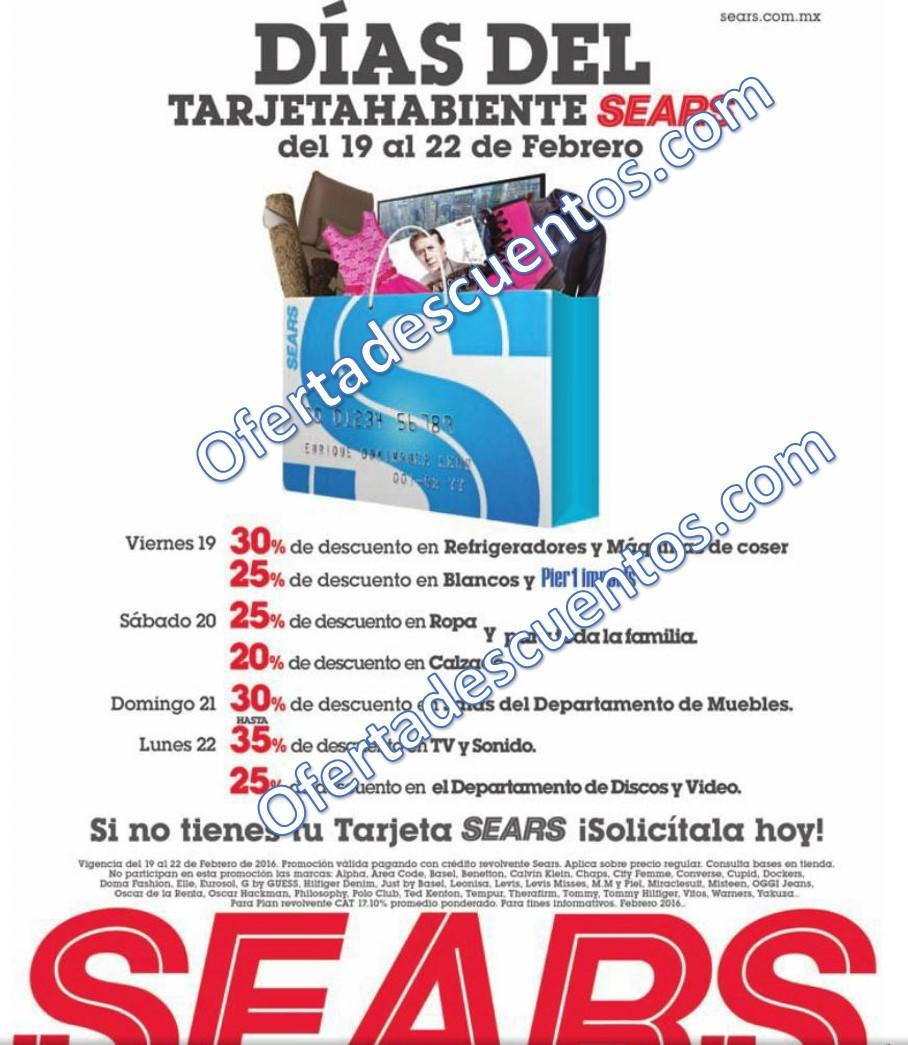 Sears: Días del Tarjetahabiente del 19 al 22 de Febrero