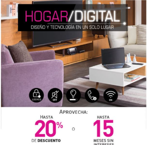 Liverpool: Hogar Digital Hasta 20% de Descuento o 15 Meses Sin Intereses