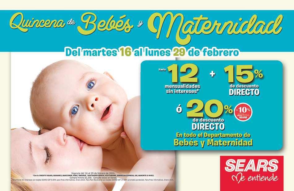 4b375f38f Sears  Quincena del Bebé del 16 al 29 de Febrero