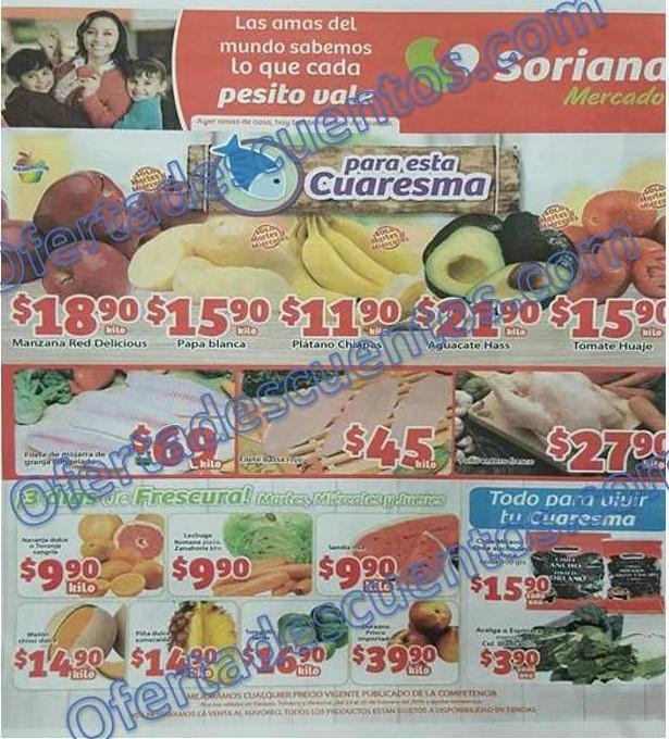 Soriana Mercado: Martes y Miércoles de Frutas y Verduras 23 y 24 de Febrero