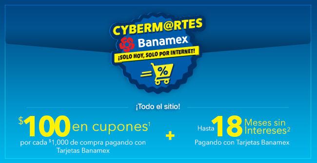 Best Buy: Cyber Martes Banamex $100 en Cupones y 18 Meses Sin Intereses