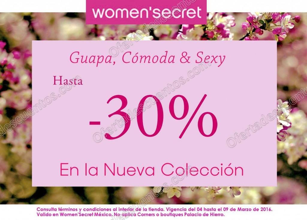 Women´s Secret: Hasta 30% de descuento en Nueva Colección del 4 al 9 de Marzo