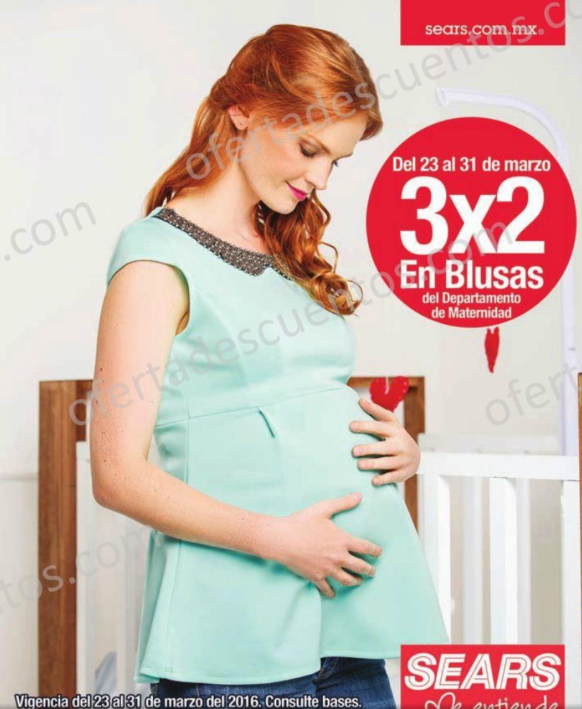 Sears: 3×2 en Blusas de Maternidad