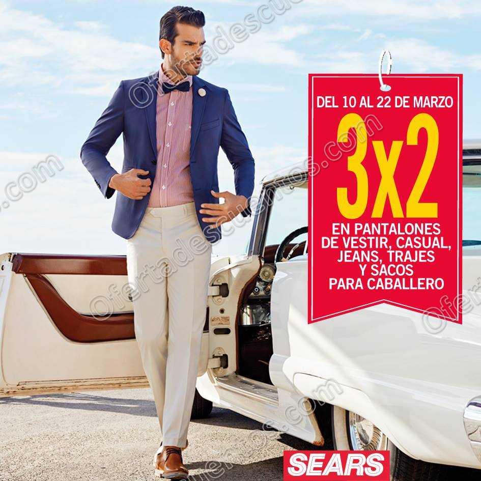 Sears: 3×2 en Pantalones, Trajes, Sacos y más