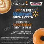 Apertura de Krispi Kreme y Cafe Dileto en walmart buenavista OFFDE