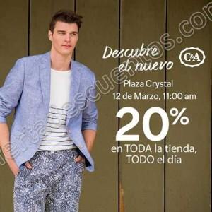 C&A: 20% de descuento en toda la Tienda por Inauguración en Tuxtla Gtz, Chiapas 12 de Marzo