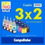 Compudabo 3x2 en consumibles Epson del 11 al 16 de marzo