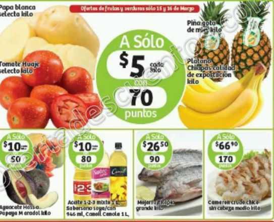 Soriana: Martes y Miércoles de Frutas y Verduras 15 y 16 de Marzo