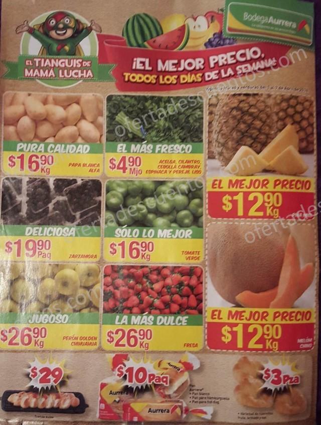 Bodega Aurrerá: Ofertas Frutas y Verduras Tianguis de Mamá Lucha 1 al