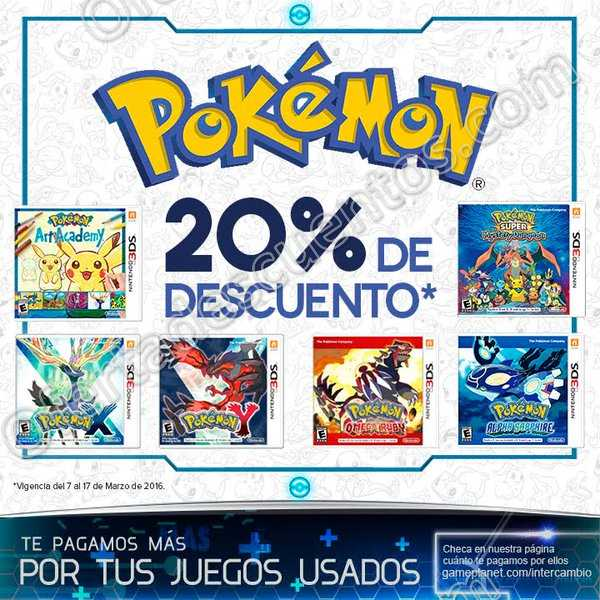 Game Planet: 20% de descuento en juegos de Pokemón al 17 de Marzo