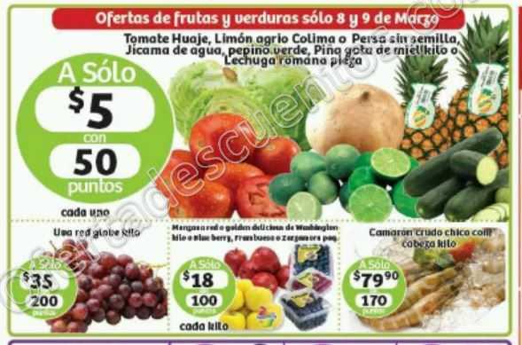 Soriana: Ofertas Frutas y Verduras Martes y Miércoles 8 y 9 de Marzo