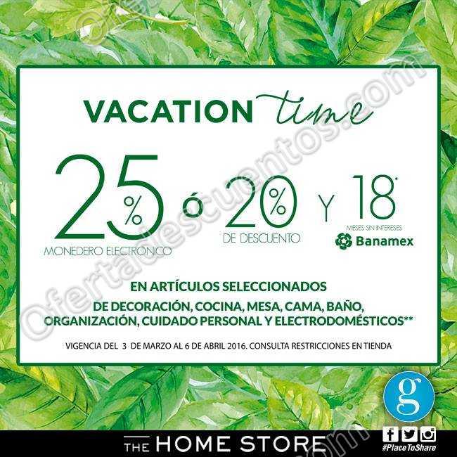 The Home Store: 25 de bonificación o 20% de descuento en artículos para el Hogar