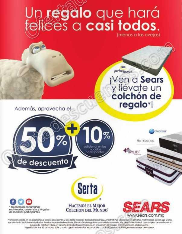 Sears: 50% de descuento en Colchones Serta, Compra y llévate colchón ...