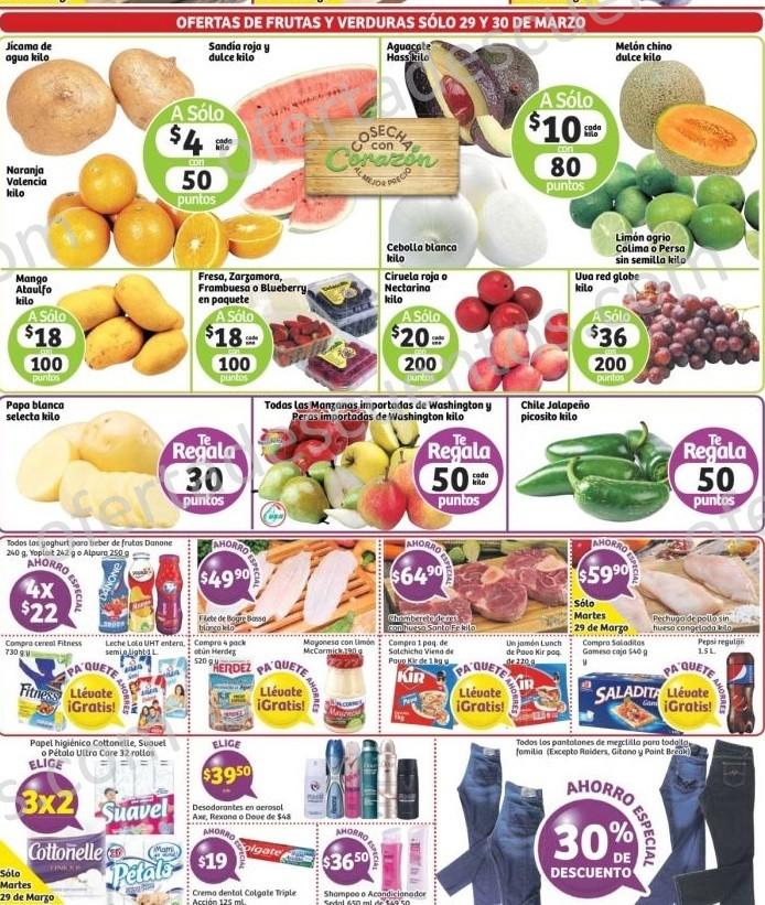 Soriana: Martes y Miércoles de Frutas y Verduras 29 y 30 de Marzo