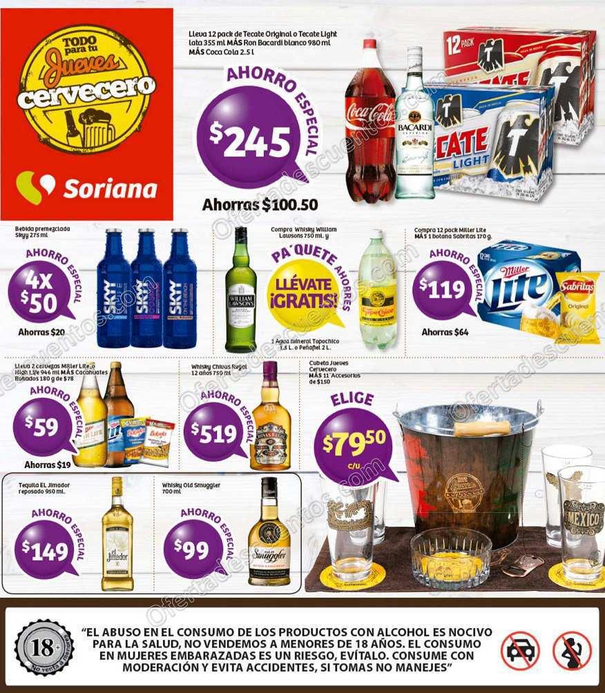 Soriana: Jueves Cervecero 17 de Marzo