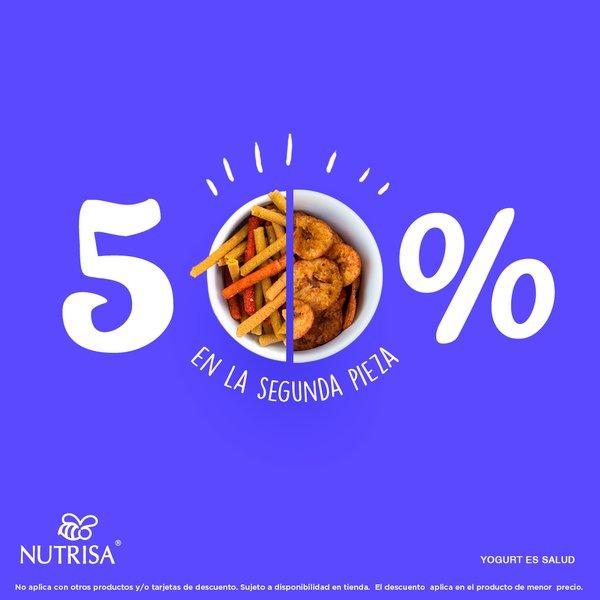 Nutrisa: 50% de descuento en segunda compra en botanas