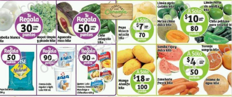 Soriana: Martes y Miércoles de Frutas y Verduras 22 y 23 de Marzo
