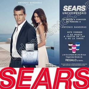 Sears: Gratis Termo al comprar fragancia de Antonio Banderas además puedes conocerlo en persona