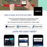 uber y heb te regalas 2 viajes de hasta 150 pesos