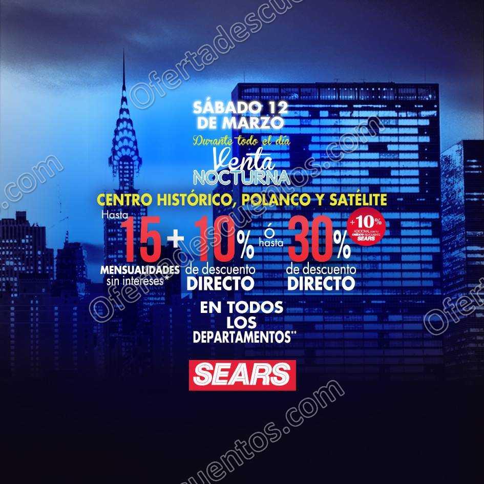 Sears: Venta Nocturna 12 de Marzo