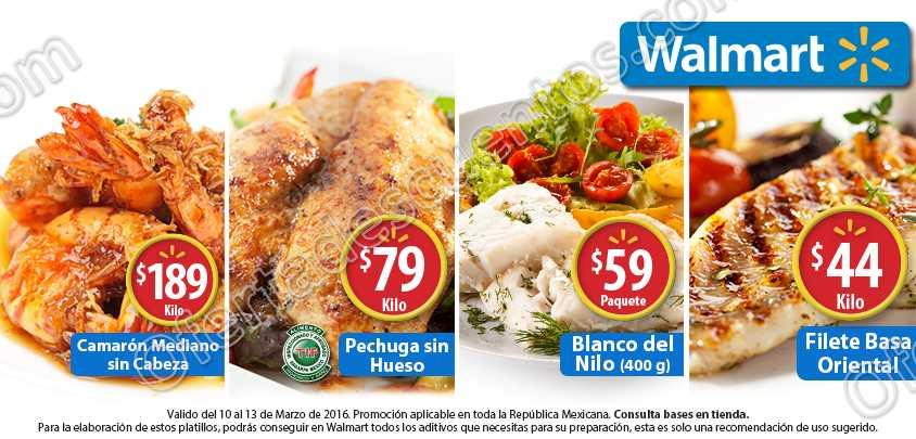 Walmart: Fin de Semana de Carnes y Mariscos 10 al 13 de Marzo