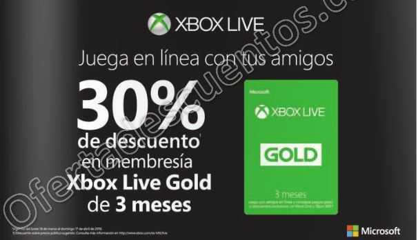 Xobx Live: 30% de descuento en Membresía Gold de 3 meses