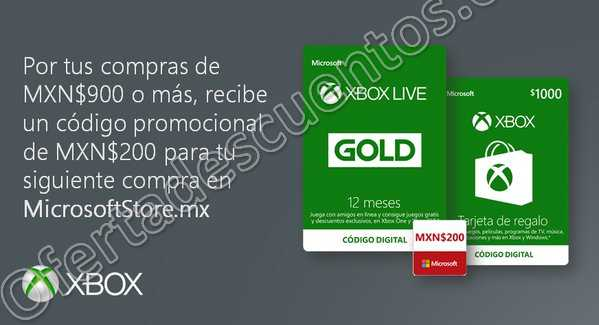 Xbox Live: Cupón de $200 de descuento para tu próxima compra