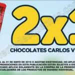 2x1 en chocolates carlos V en el Oxxo al 1 de mayo OFFDE