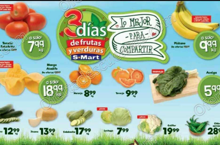S-Mart: Tres Días de Frutas y Verduras del 12 al 14 de Abril