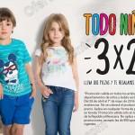 3x2 en todo el departamento de niños en CyA OFFDE