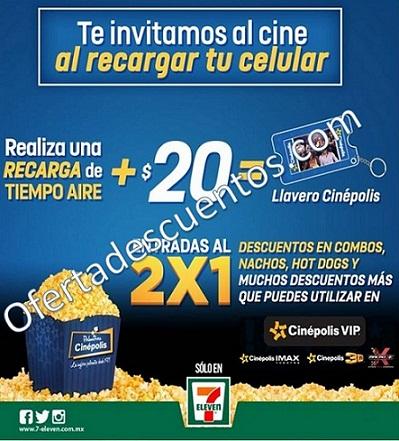 7Eleven: Recarga $20 de Saldo y te llevas entradas al 2×1, descuentos y más en Cinépolis