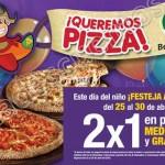 Benedettis pizzas al 2x1 del 25 al 20 de abril OFFDE