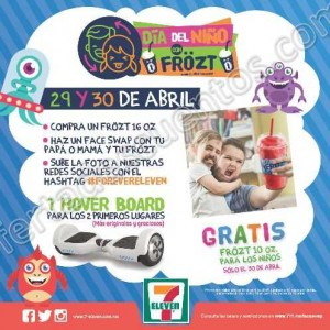 7-Eleven: Frozt Gratis Para los Niños el 30 de Abril