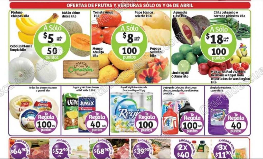 Soriana: Martes y Miércoles de Frutas y Verduras 5 y 6 de Abril